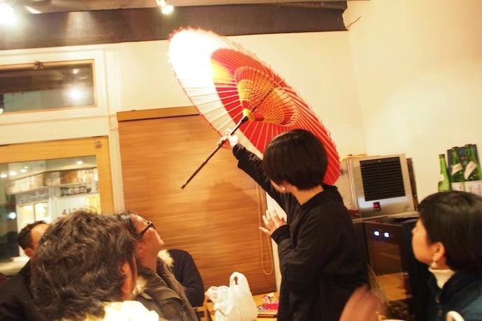 ごとバー名古屋 長良川の手仕事 和傘ナイト